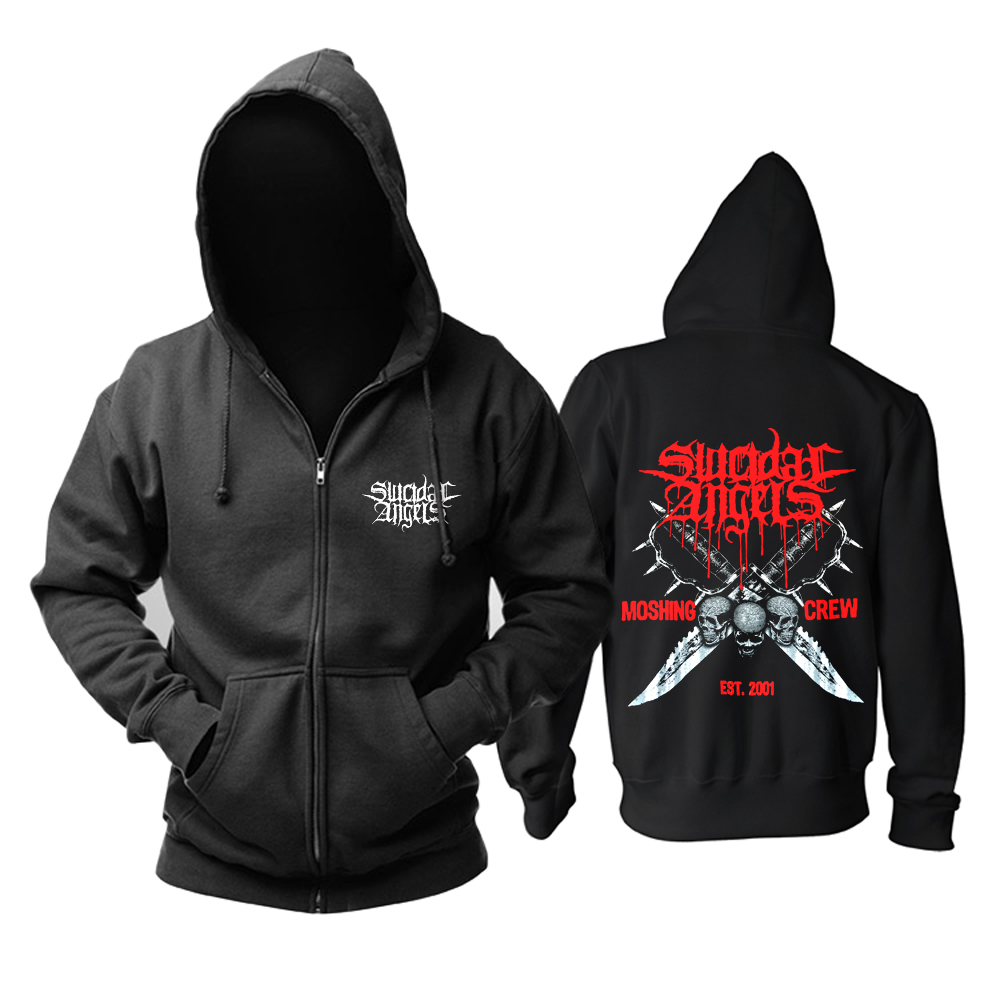 Merch Hoodie Suicidal Angels Moshing Crew Pullover