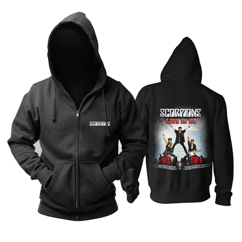 Merchandise Hoodie Scorpions Live In 3D Pullover