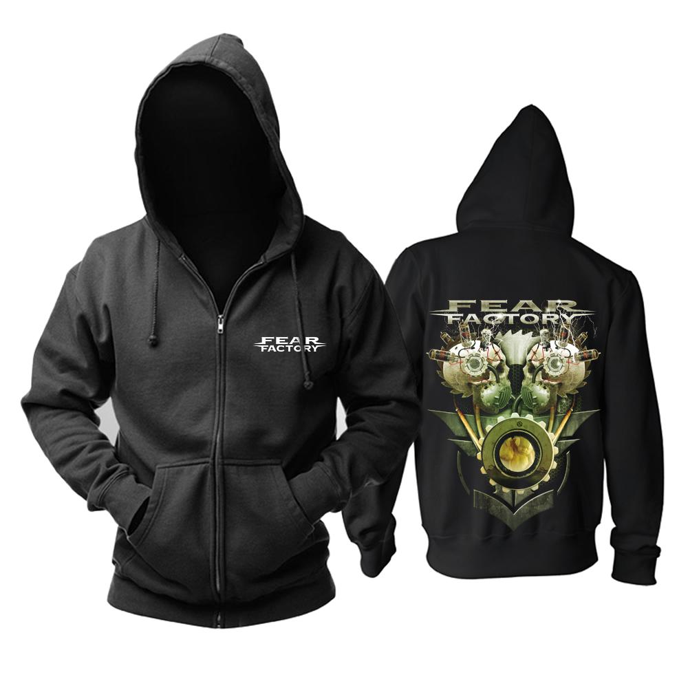 Merchandise Hoodie Fear Factory Skulls Black Pullover