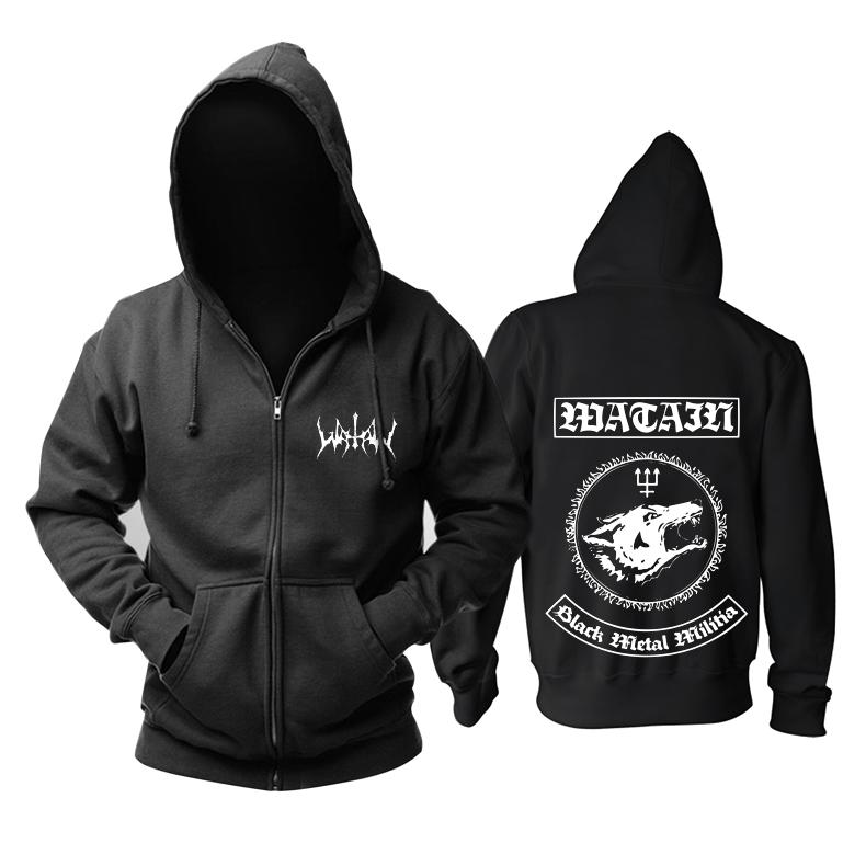 Merchandise Hoodie Watain Black Metal Militia Pullover