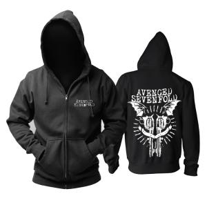 Merchandise Hoodie Avenged Sevenfold Guns Pullover
