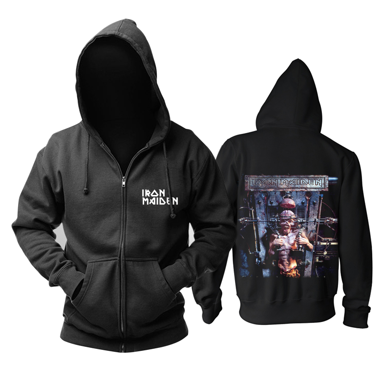 Merchandise Iron Maiden Band Hoodie Jacket Pullover