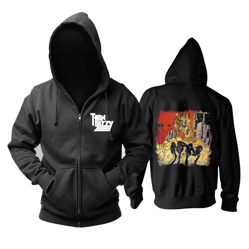 Merchandise Thin Lizzy Hoodie Jailbreak Explosion Pullover