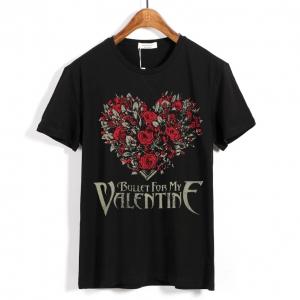 Merchandise T-Shirt Bullet For My Valentine Heart Of Roses