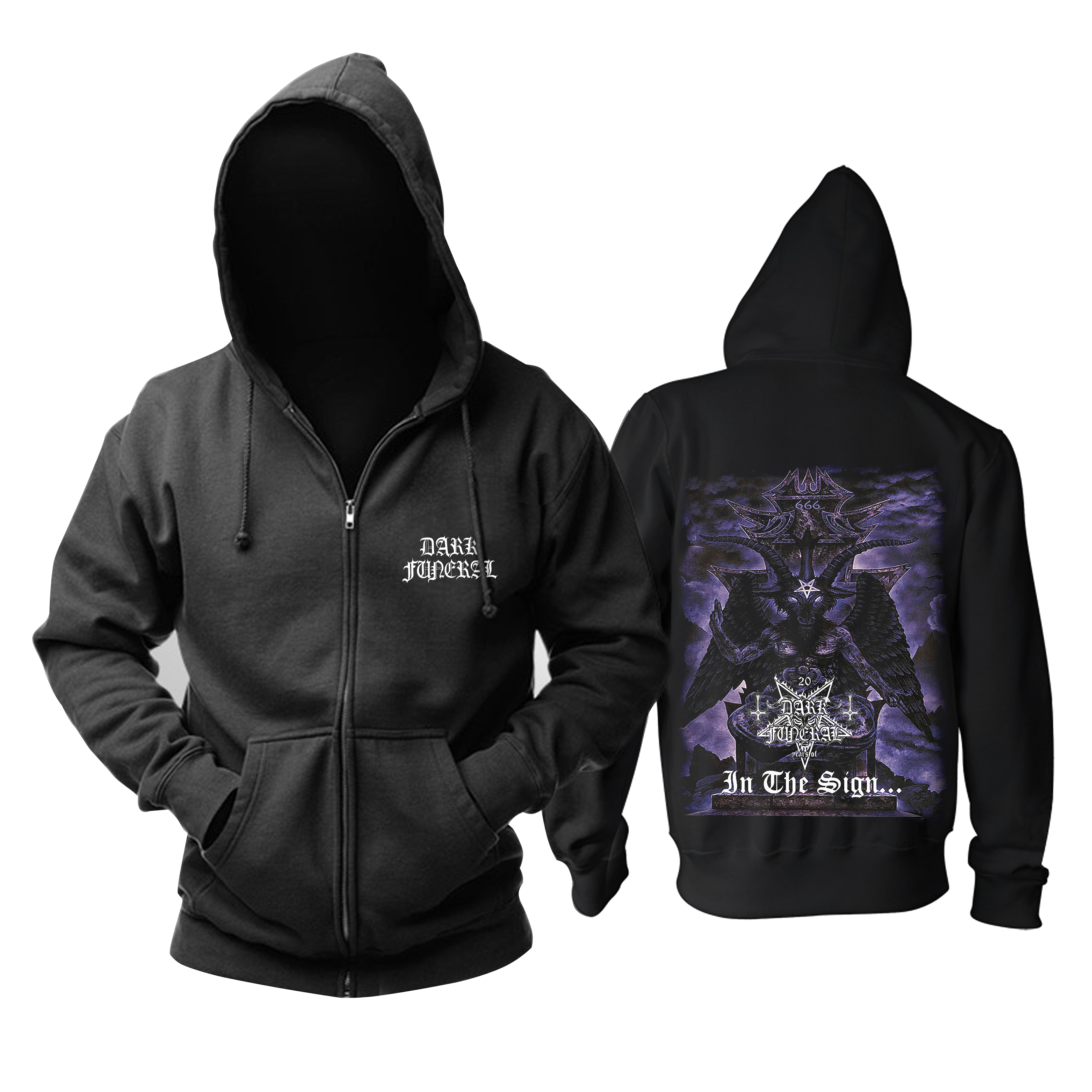 Merch Hoodie Dark Funeral In The Sign Pullover