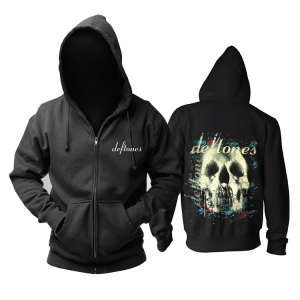 Merchandise Hoodie Deftones Skull Black Pullover