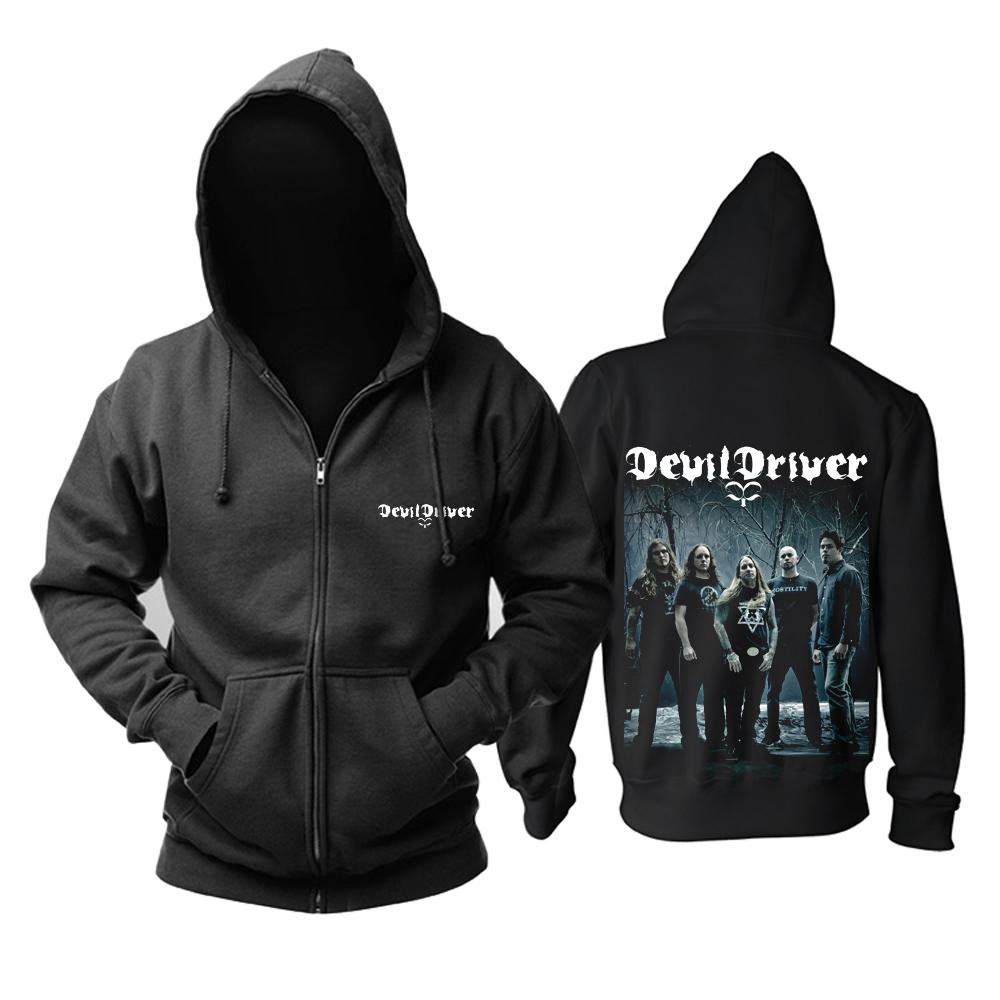 Merch Hoodie Devildriver Metal Band Pullover