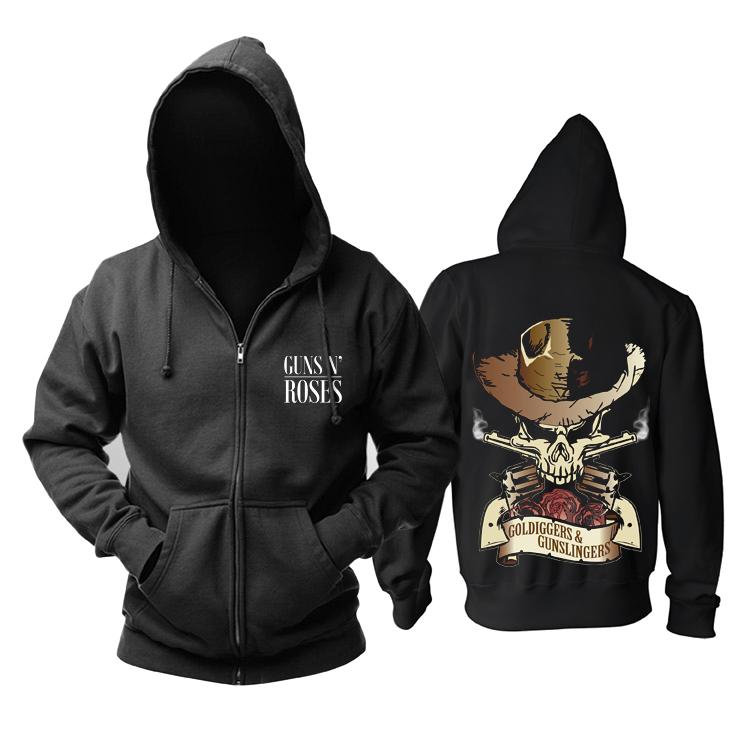 Merchandise Hoodie Guns N' Roses Goldiggers And Gunslingers Pullover