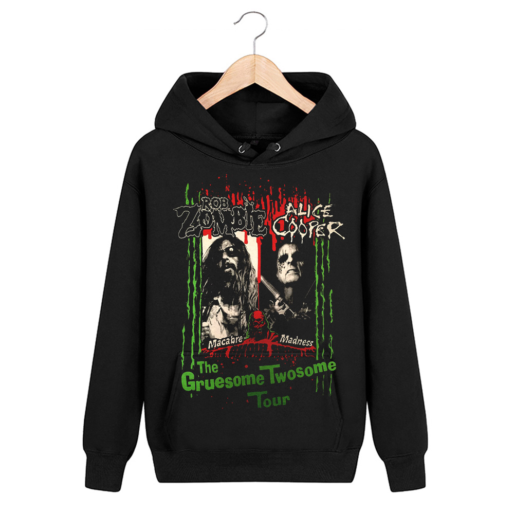 Collectibles Hoodie Rob Zombie And Alice Cooper Pullover