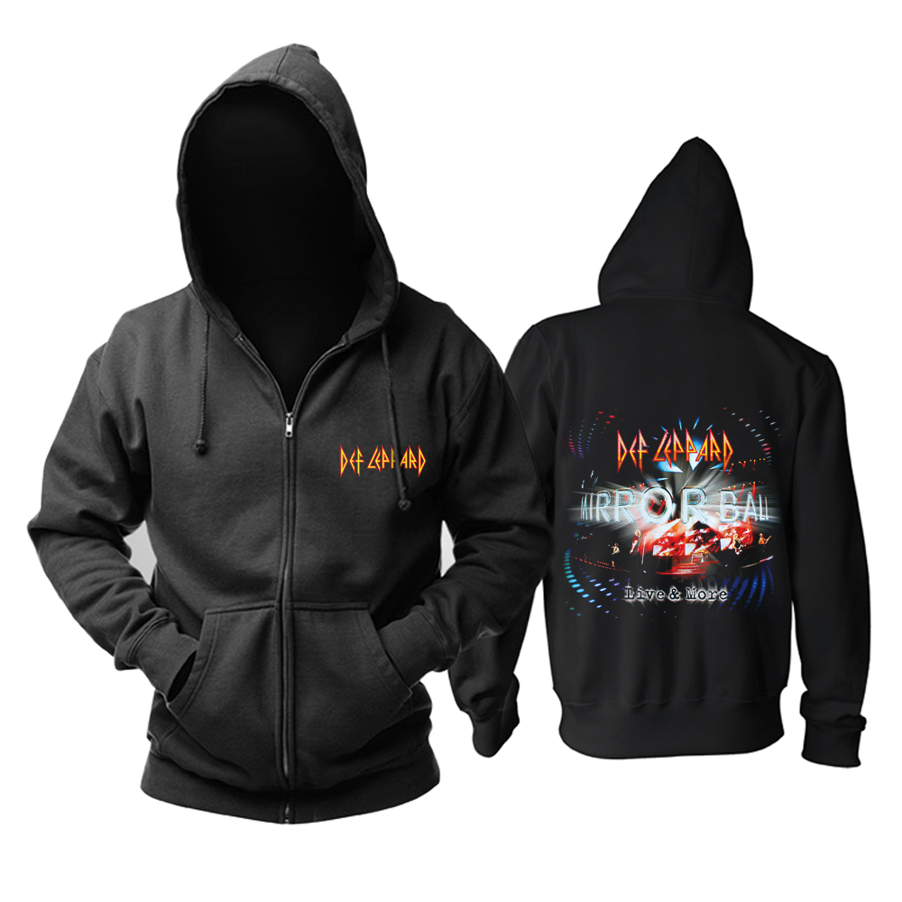 Merch Def Leppard Hoodie Mirrorball Live More Pullover
