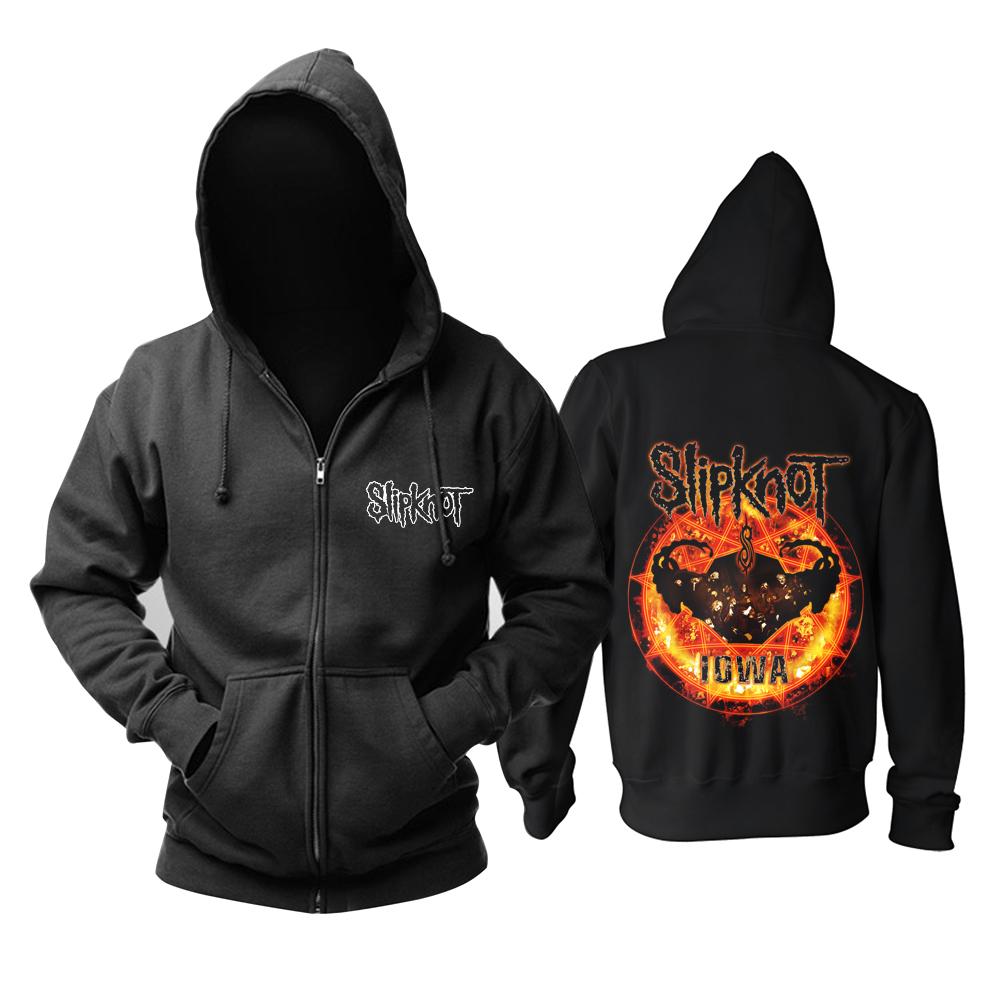 Merchandise Hoodie Slipknot Iowa Circled In Flames Pullover