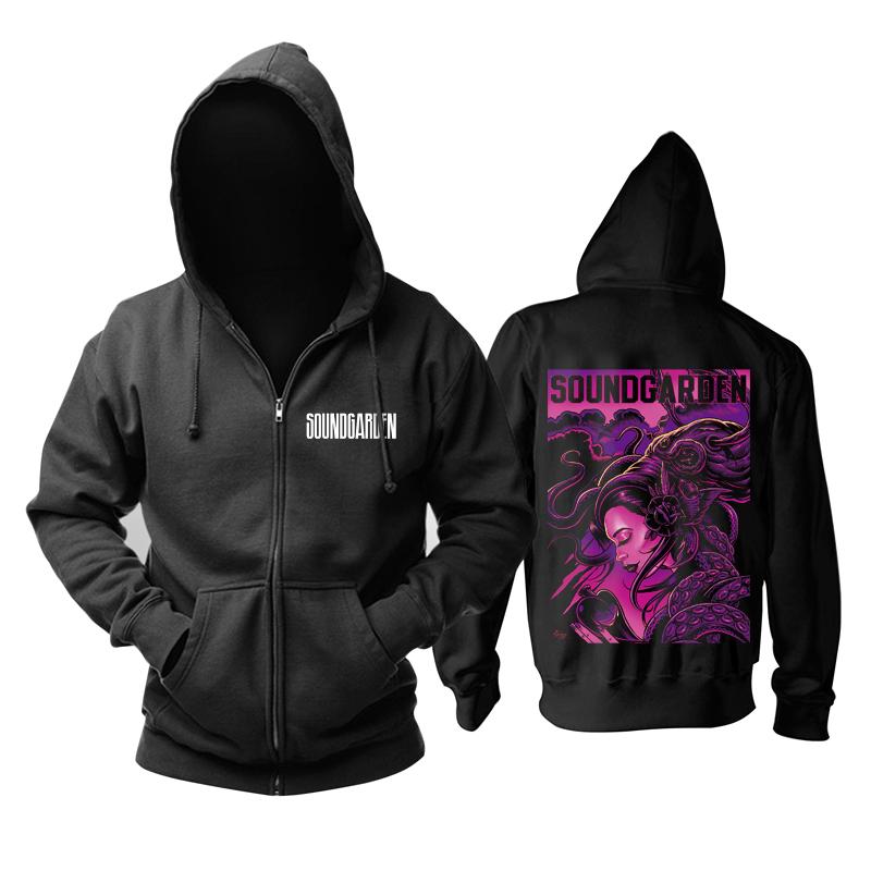 Merch Hoodie Soundgarden Rock Black Pullover