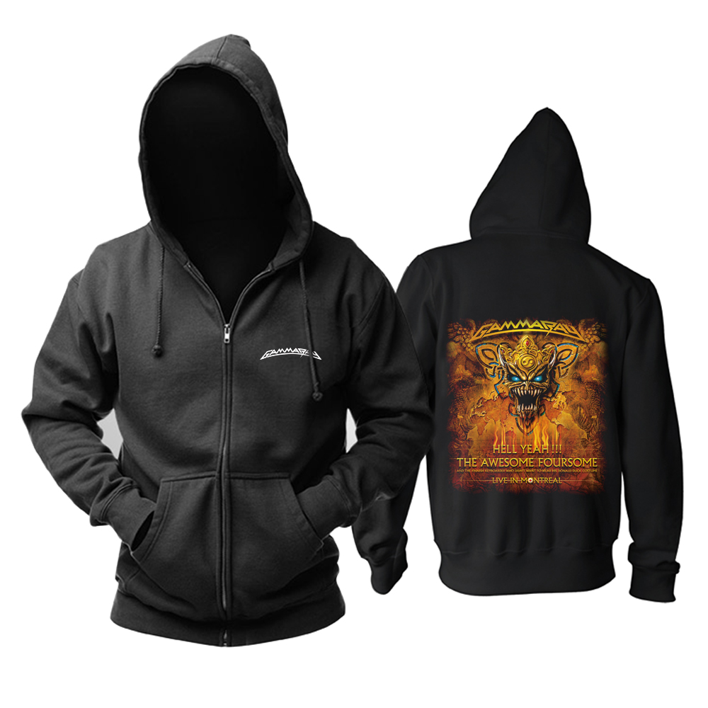 Merch Hoodie Gamma Ray Hell Yeah The Awesome Foursome Pullover