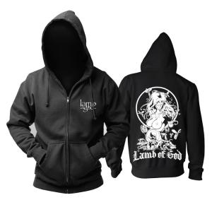 Merchandise Hoodie Lamb Of God Groove Metal Music Pullover