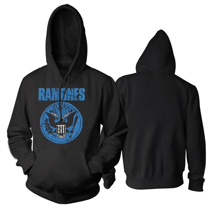 Merch Hoodie Ramones Emblem Black Pullover
