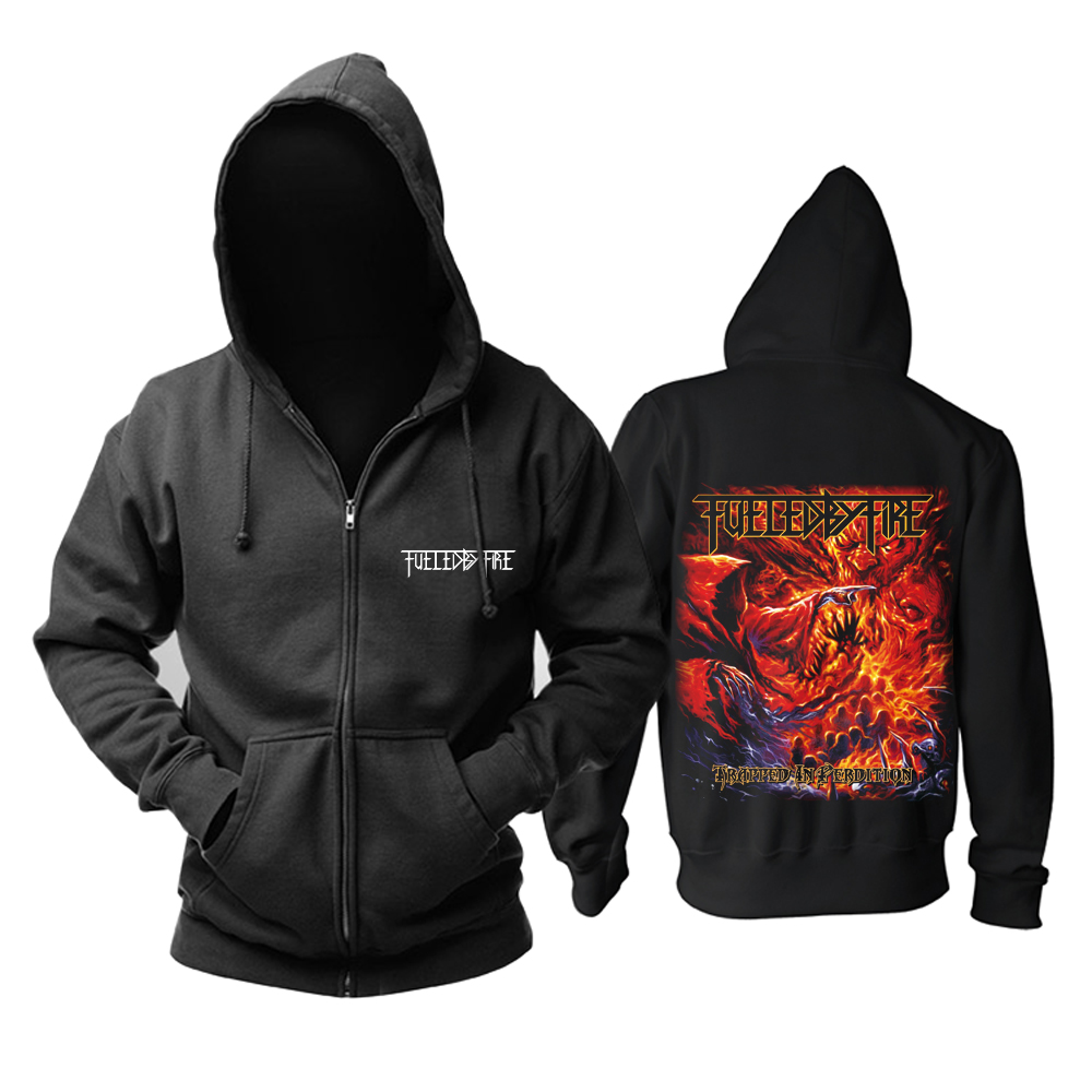 Merch Hoodie Fueled By Fire Trapped In Perdition Pullover