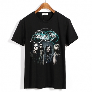 Collectibles T-Shirt Escape The Fate Rock Band Black