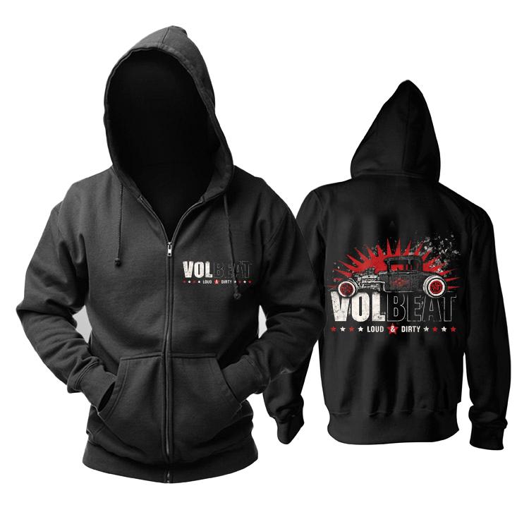 Merch Hoodie Volbeat Loud &Amp; Dirty Black Pullover