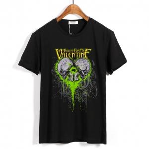 Merchandise T-Shirt Bullet For My Valentine Skulls Logo Black