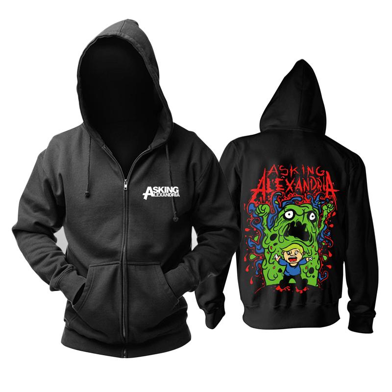 Merch Hoodie Asking Alexandria Green Monster Pullover