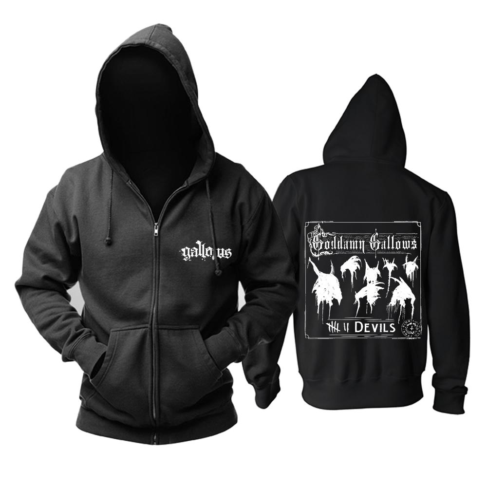 Merchandise Black Hoodie Gallows Devils Cotton Pullover