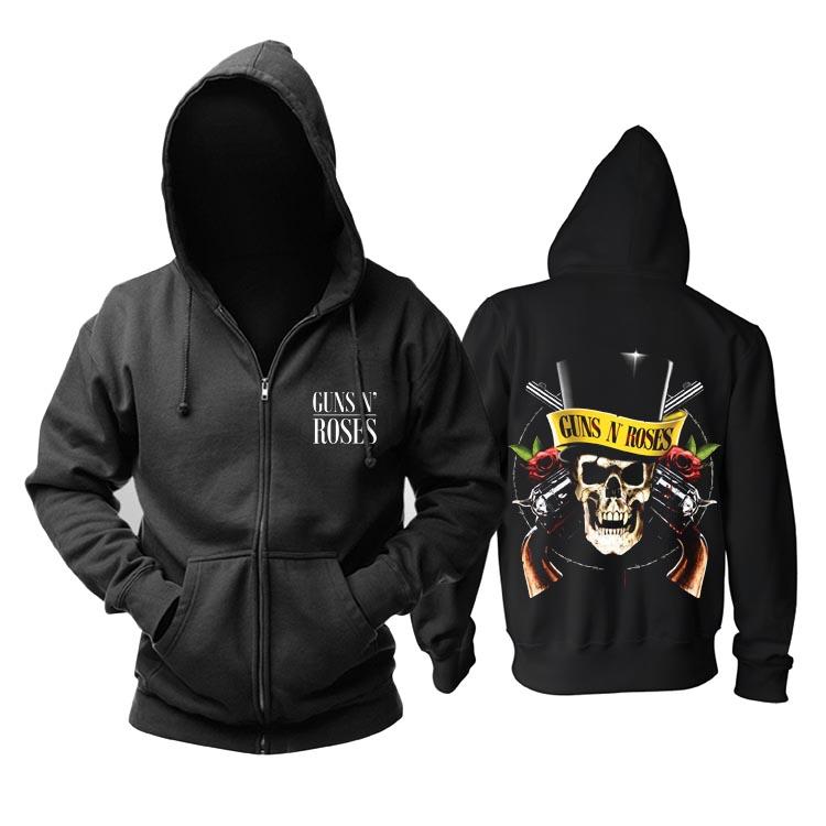 Merchandise Guns N' Roses Hoodie Black Cover Print Pullover
