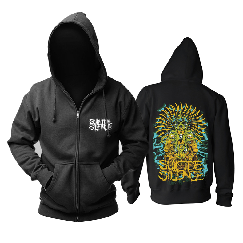 Collectibles Suicide Silence Hoodie Jacket Black Pullover