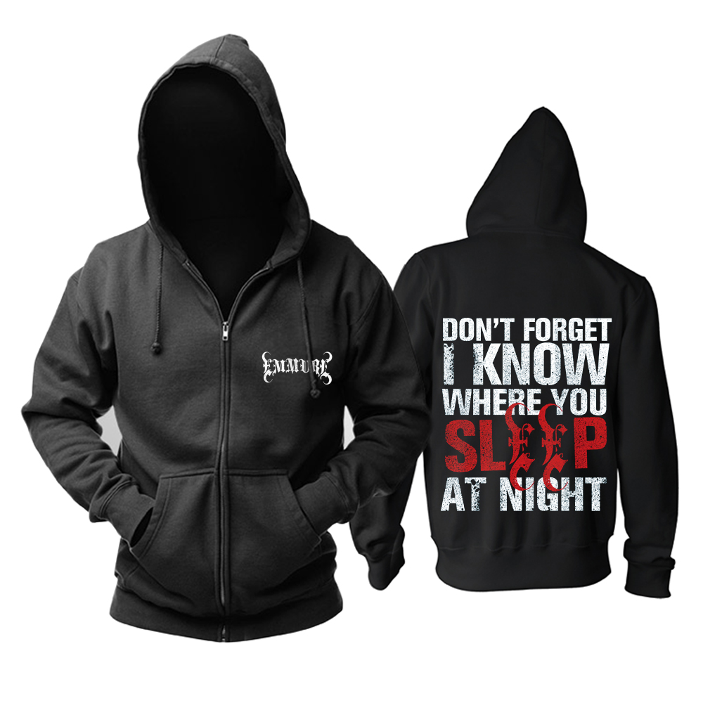Merchandise Hoodie Emmure I Know Where You Sleep Pullover