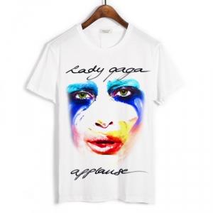 Merchandise T-Shirt Lady Gaga Applause Face White