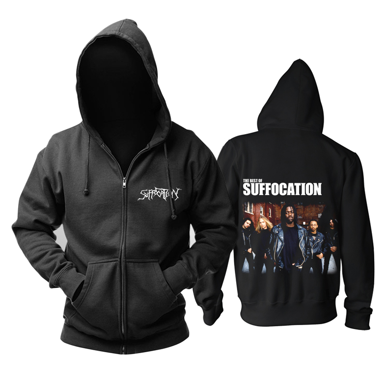Merch Hoodie Suffocation Metal Band Pullover