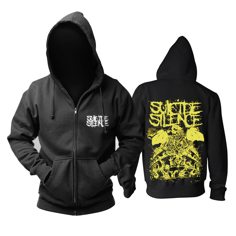 Merch Hoodie Suicide Silence Yellow Black Pullover