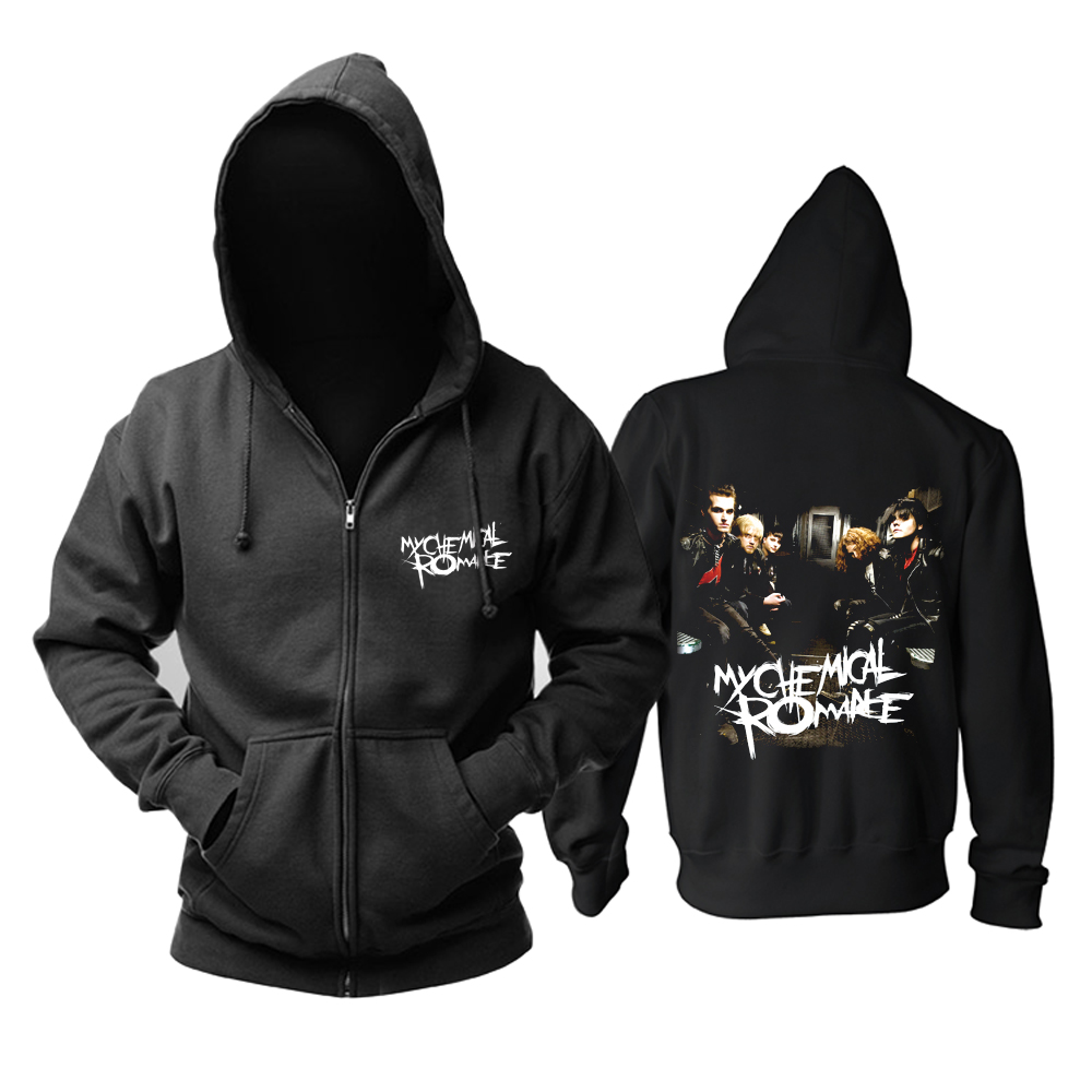 Collectibles Hoodie My Chemical Romance Rock Band Black Pullover