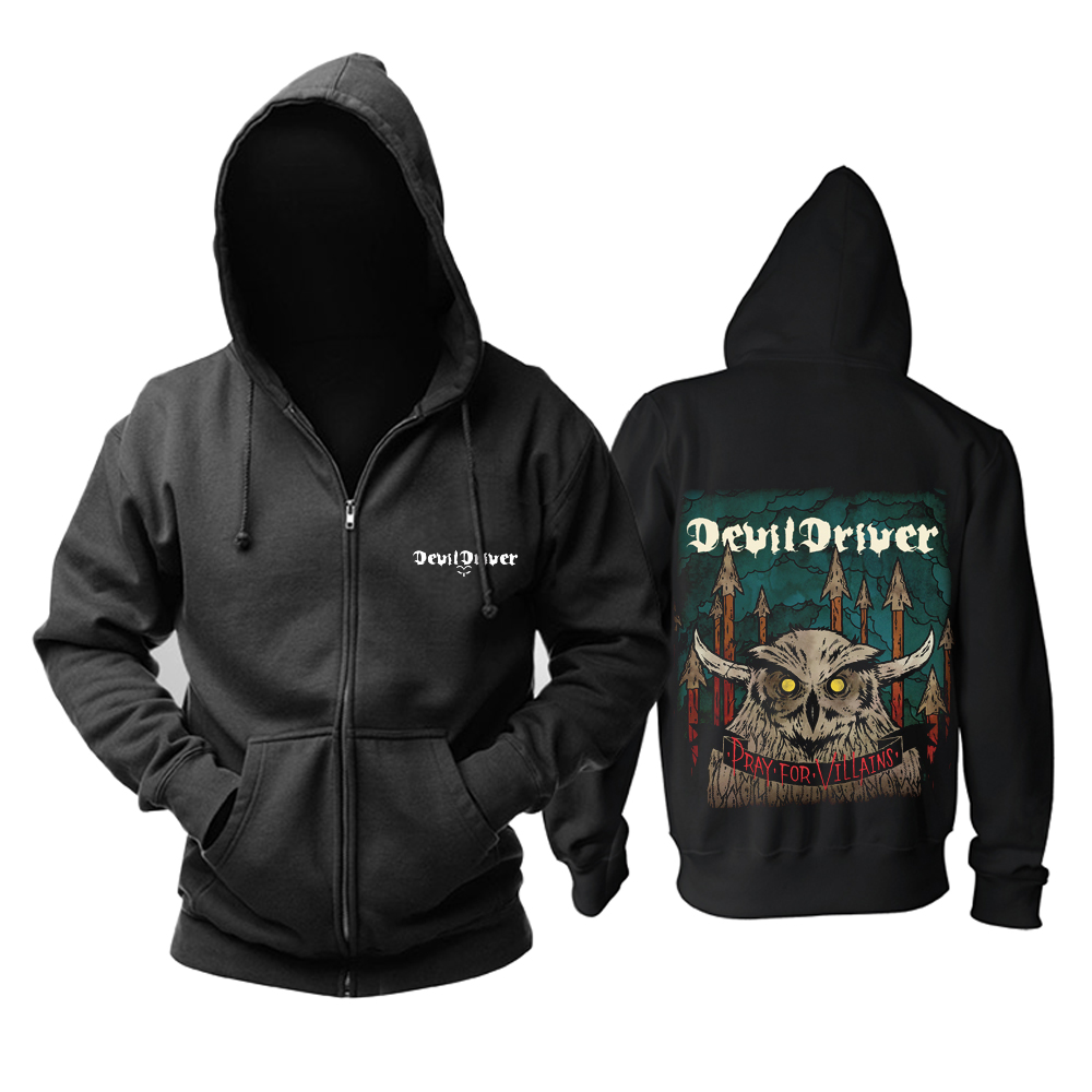 Merch Hoodie Devildriver Pray For Villains Pullover