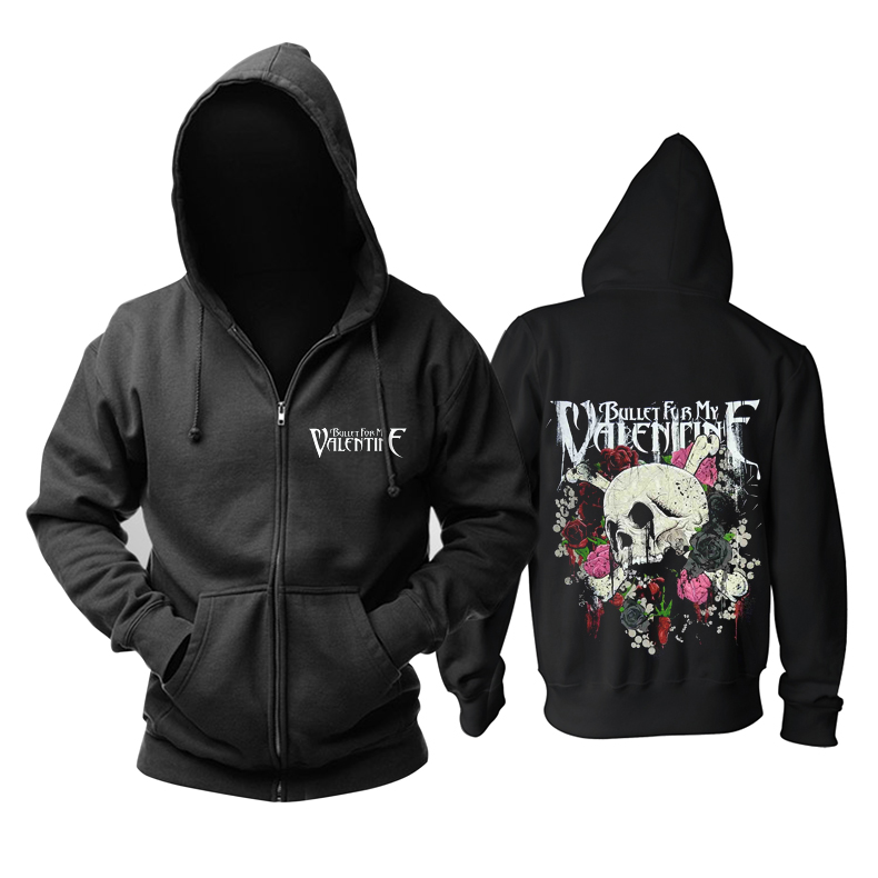 Merchandise Hoodie Bullet For My Valentine Punk Rose Pullover