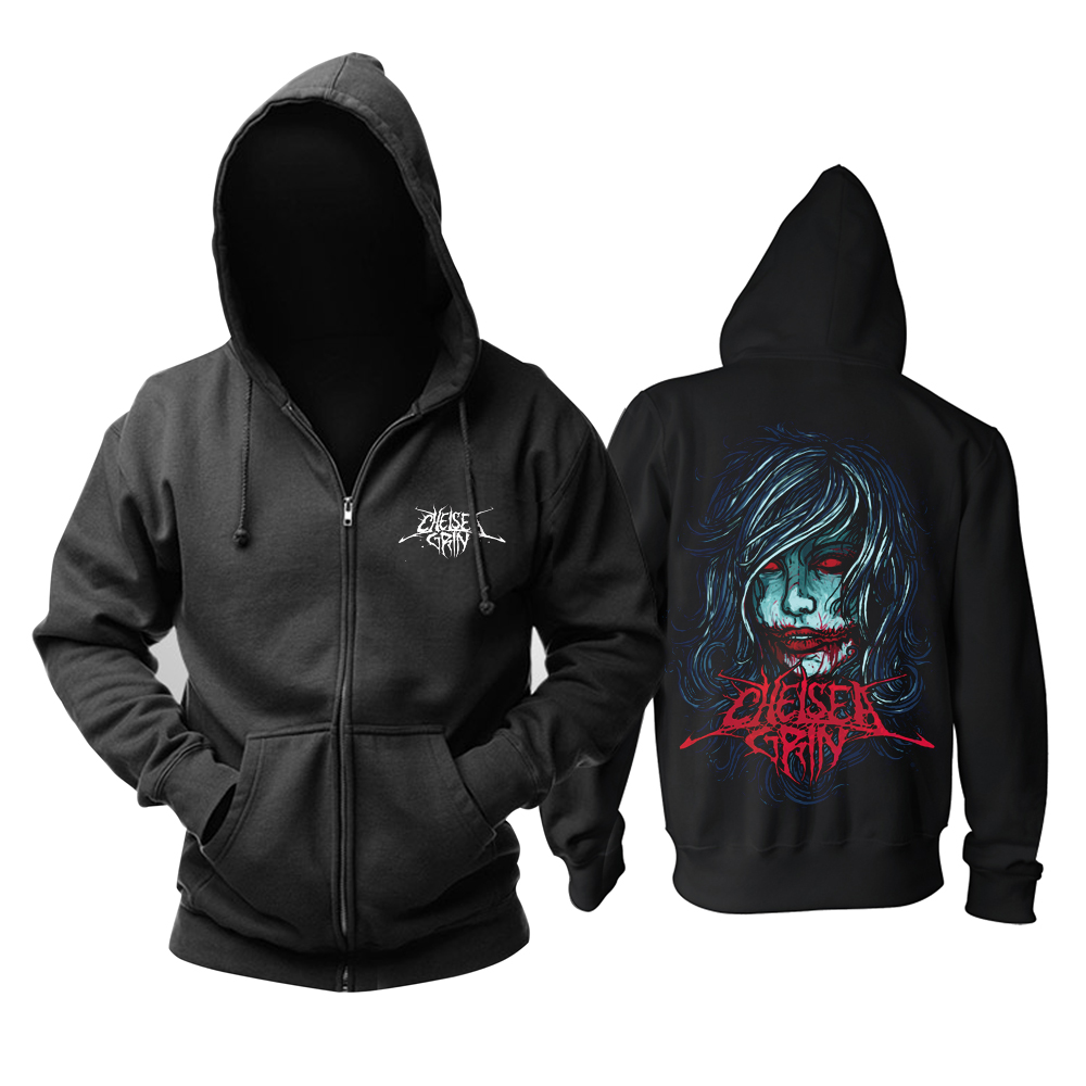 Collectibles Hoodie Chelsea Grin Girl Face Pullover