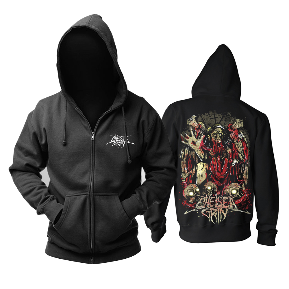 Collectibles Hoodie Chelsea Grin Torn Flesh Black Pullover
