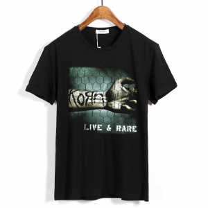 Merch T-Shirt Korn Live And Rare Metal