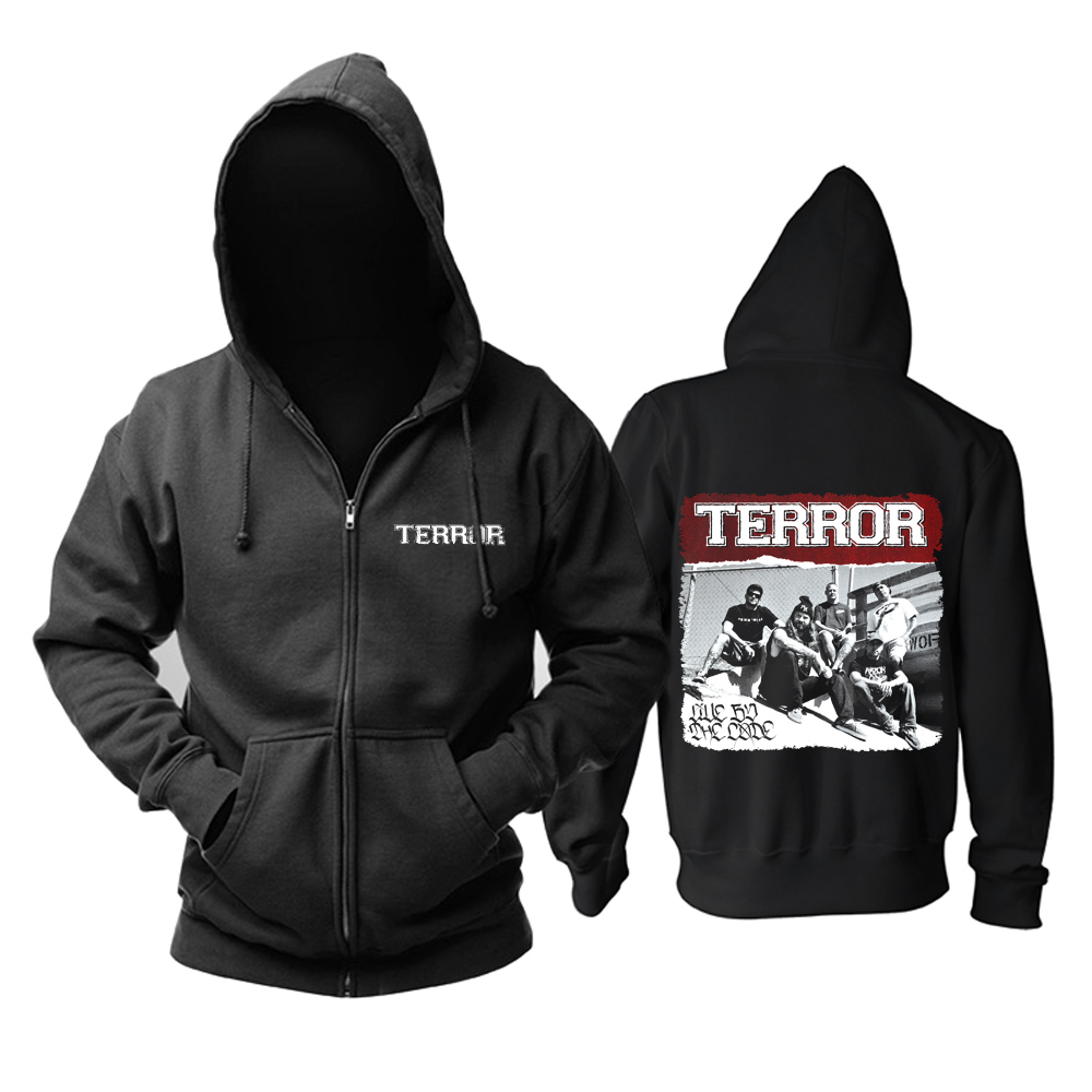 Merch Hoodie Terror Live By The Code Pullover