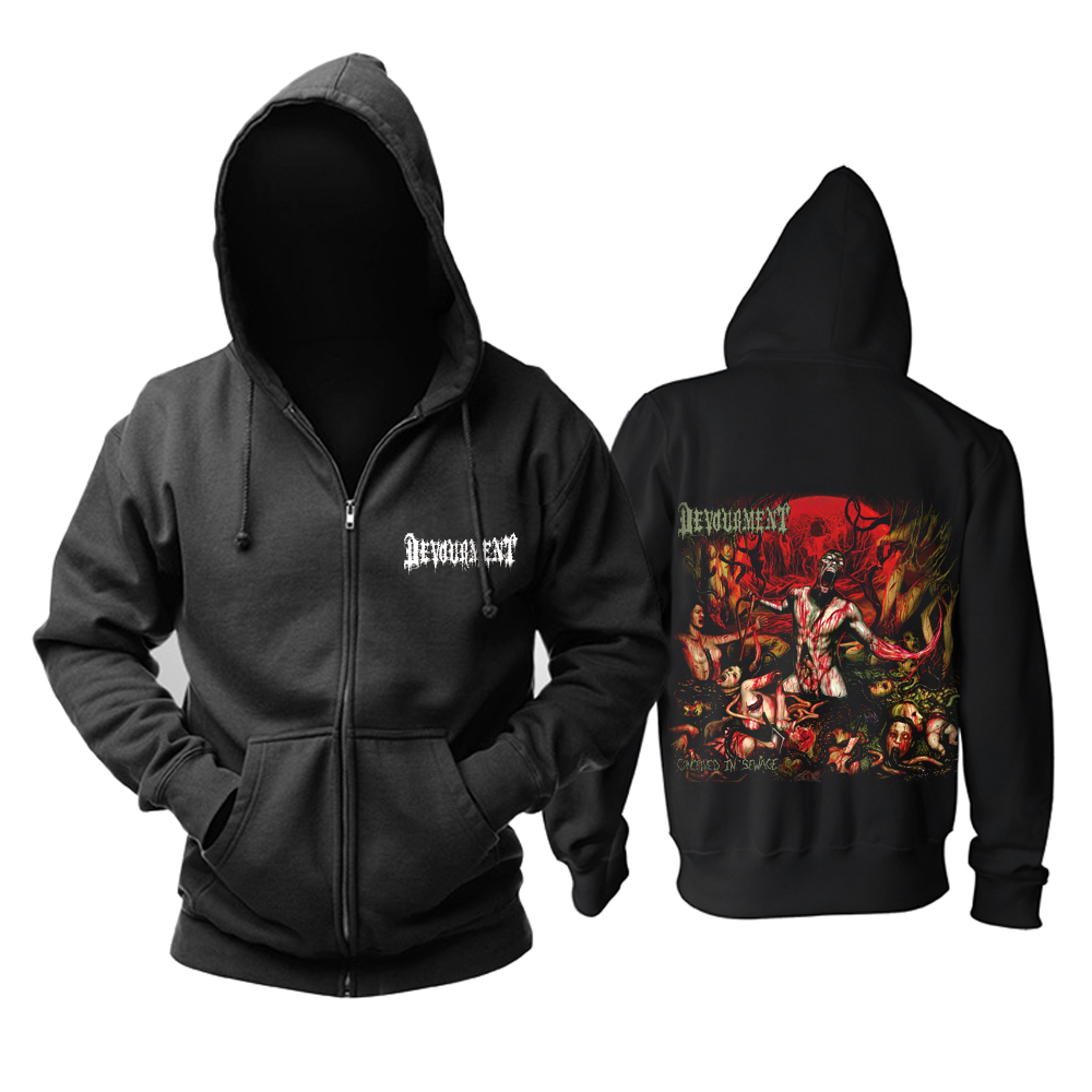 Merchandise Hoodie Devourment Conceived In Sewage Pullover