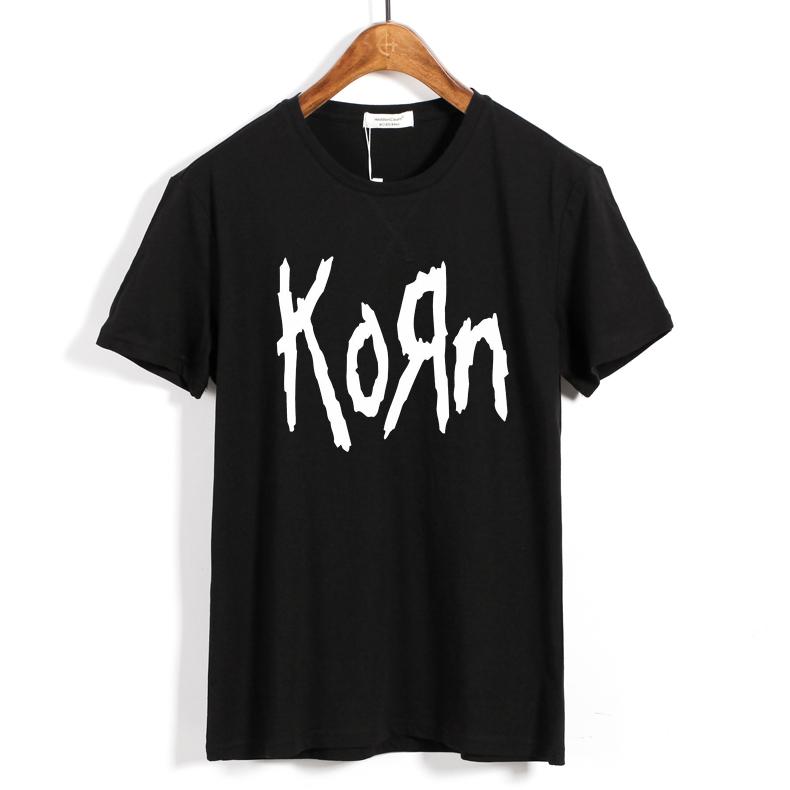 Merch T-Shirt Korn Band Logo Black
