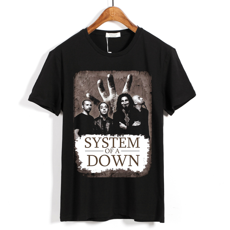 Collectibles T-Shirt System Of A Down Rock Band Black