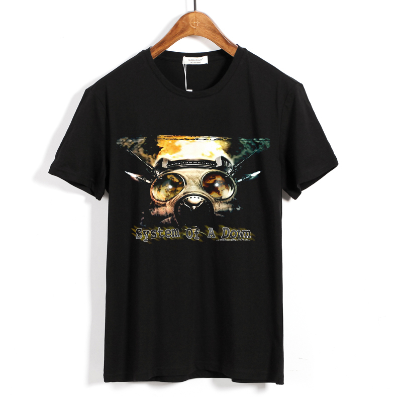 Collectibles T-Shirt System Of A Down Gas Mask
