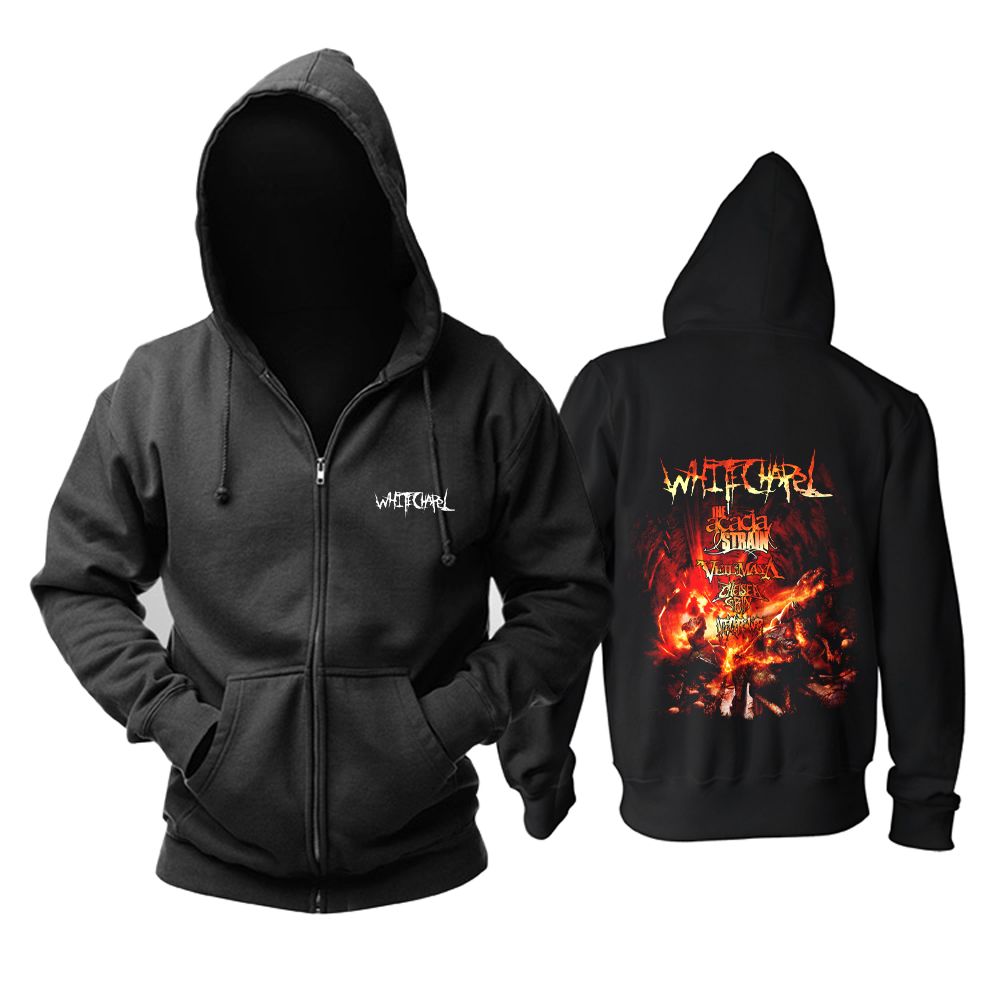 Merchandise Hoodie Whitechapel Deathcore Hell Tour Pullover