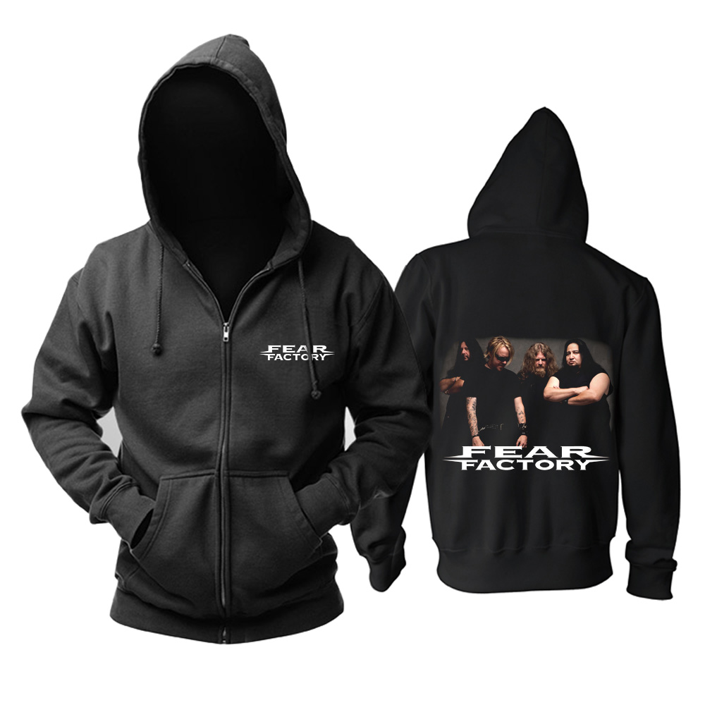 Merch Hoodie Fear Factory Metal Band Black Pullover