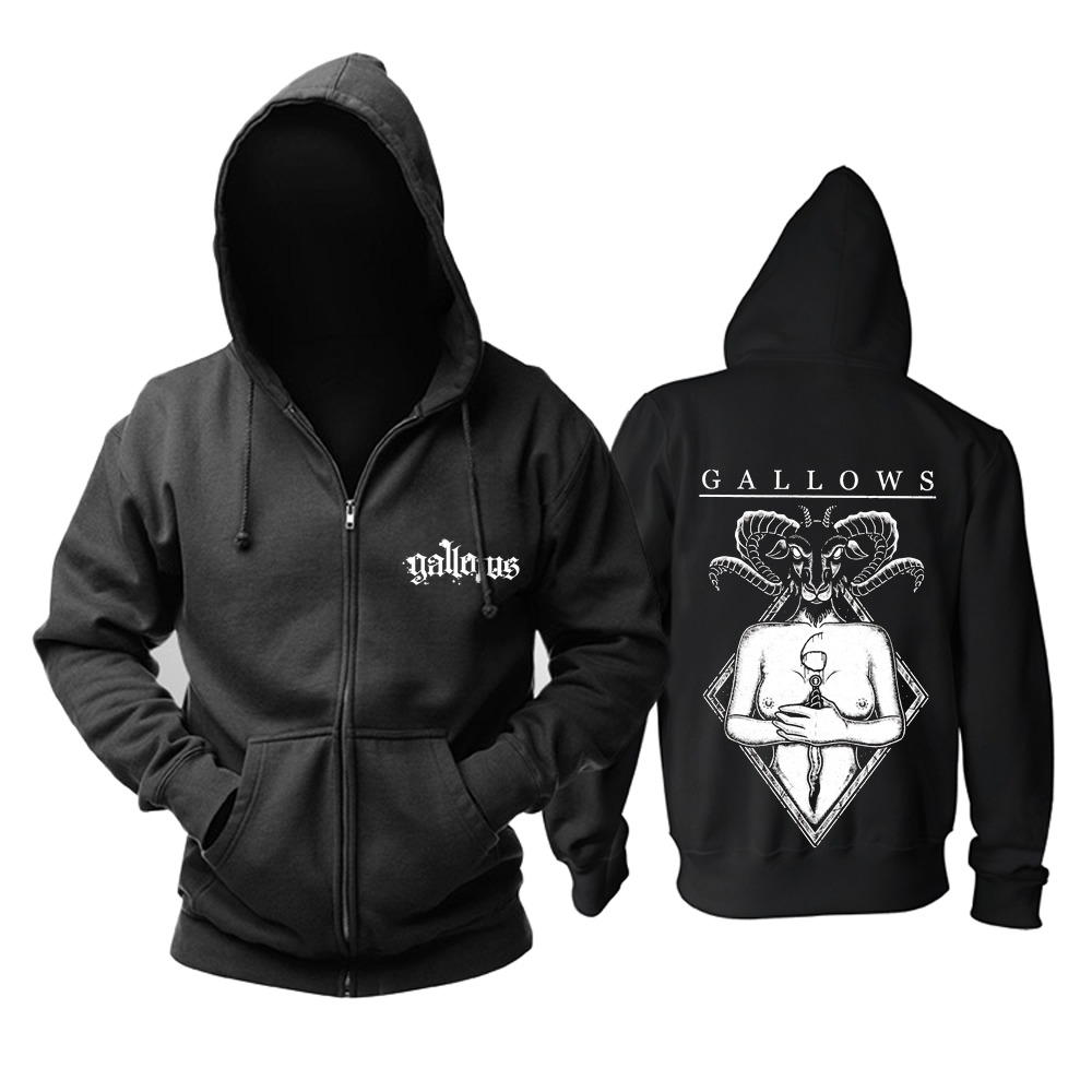 Merch Hoodie Gallows Hardcore Band Pullover