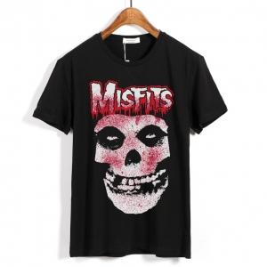 Merch T-Shirt Misfits Jarek Skull Black