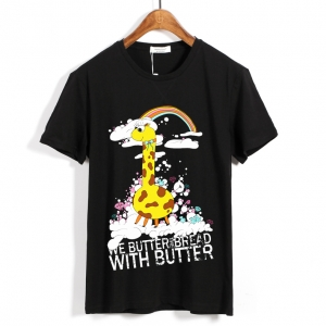 Merch T-Shirt We Butter The Bread With Butter Giraffe