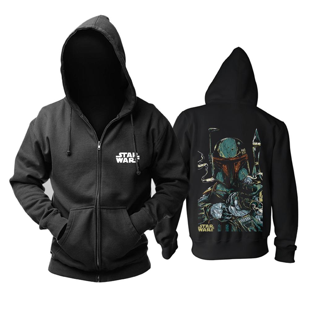 Merch Hoodie Star Wars Boba Fett Black Pullover