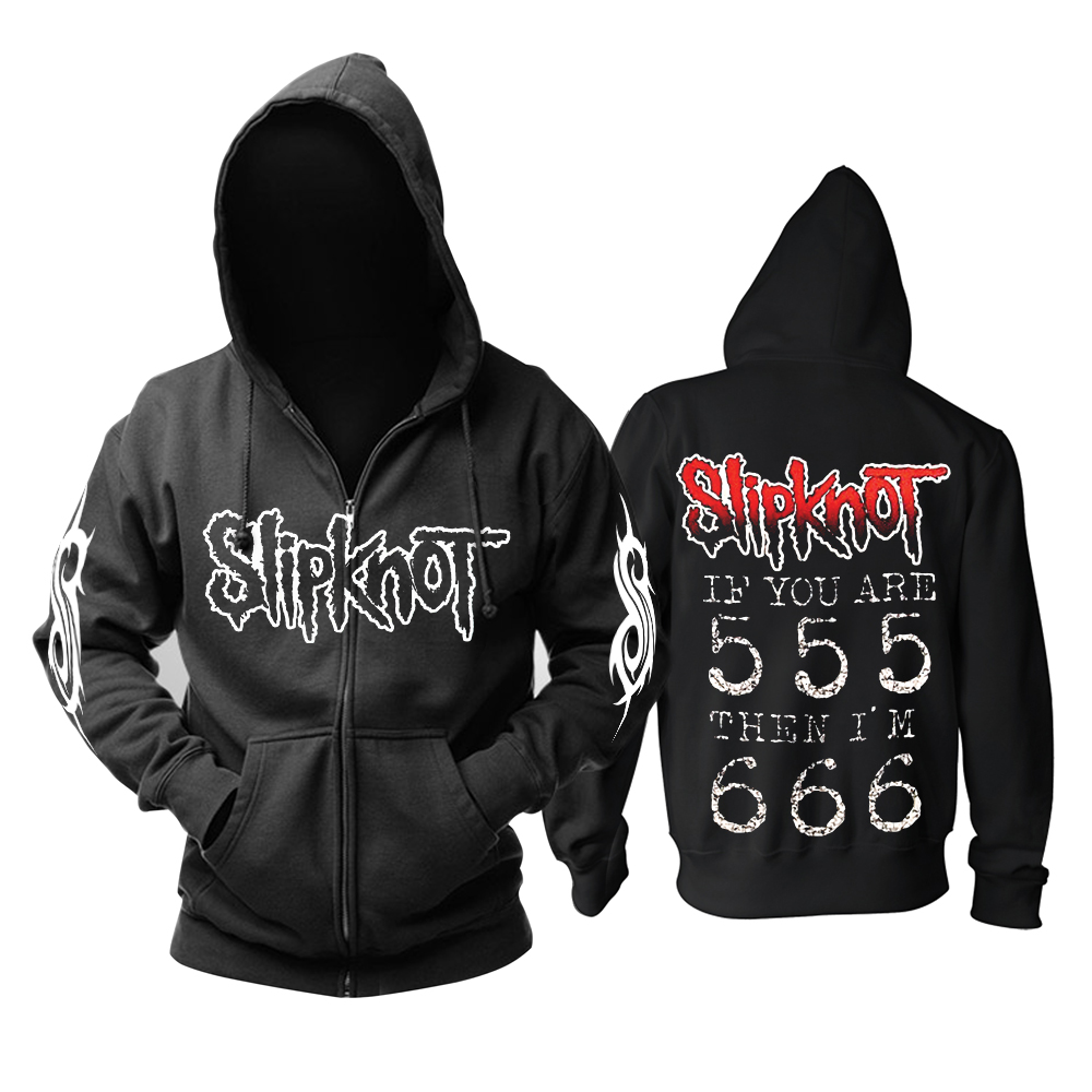 Merchandise Hoodie Slipknot If You Are 555 Pullover