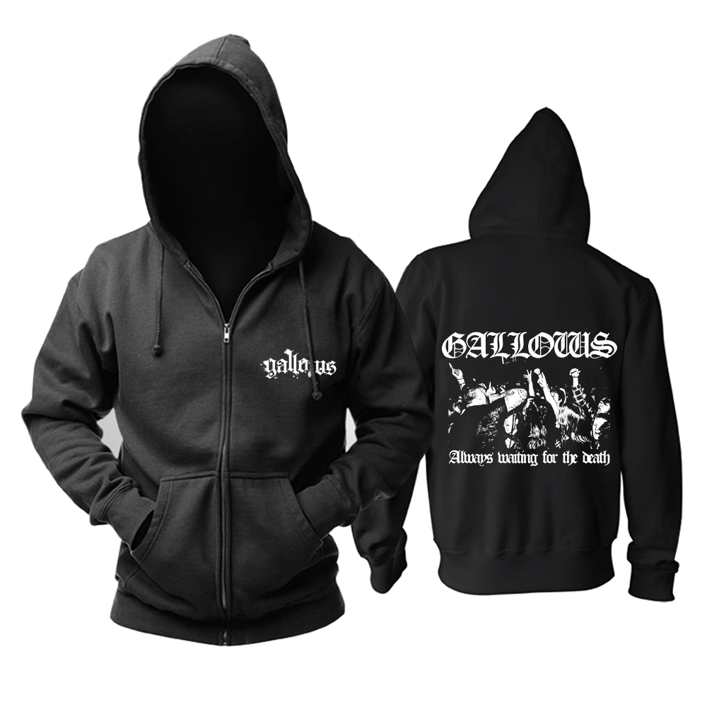 Merchandise Hoodie Gallows Always Waiting For The Death Pullover